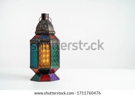 Arabic candle lantern, Ramadan kareem background