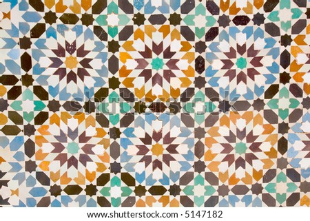 Seamless Tile-Able Vector Pattern Made From Symbols Of Arabic