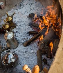 Arabic coffee preparation