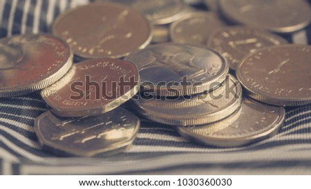 Arabic coins of dirhams. Toning.