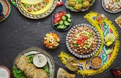 Arabic Cuisine: Middle Eastern traditional breakfast. It's also Ramadan