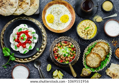 Arabic cuisine; Middle Eastern traditional breakfast. It's also Ramadan 'Suhur' or 'Sahur'. It's an Islamic term referring to the meal consumed early in the morning by Muslims before fasting.