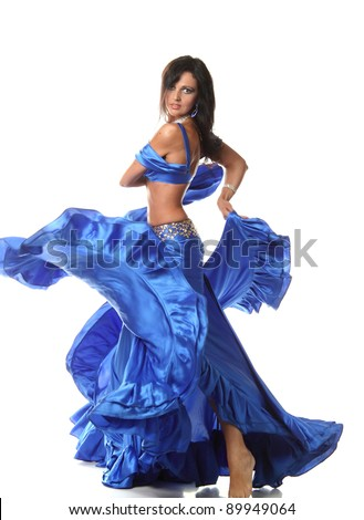 Arabic dance performed by a beautiful brunette