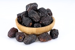 Arabic dates, ajwa dates on the white