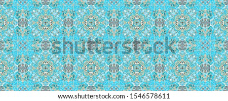 Arabic Endless Template. Endless Geometrical Backdrop. Yellow and Blue Watercolor Motif. Yellow and Blue Beautiful Painting. Spain Trendy Pattern. Watercolor Element.