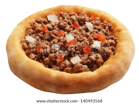 arabic food Esfiha mini pizza with meat