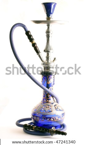 Arabic hookah isolated over a white background