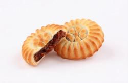 arabic oriental cookies dates maamoul eid al fitr and ramadan sweet isolated on white background