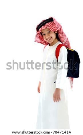 Arabic school boy