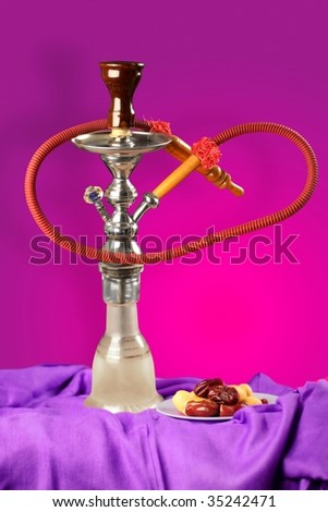 arabic smoking pipe commonly known as sheesha or hookah
