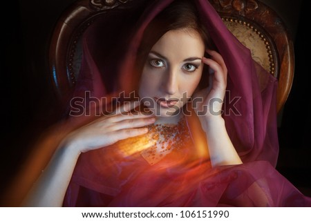Arabic style portrait of a young beauty. arabic