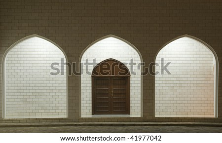 Arabic styled door with three portals