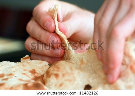 "arabic traditiona flat bread ""lafa"""