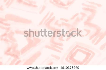 Arabic Vector Texture Invitation. Pink Ethnic Art Background. Beautiful Fashion Print. Pink Shibori Texture. Rough Oil Ornaments Cover. Tibetan Vintage Decor Decor.