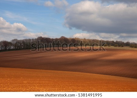 Arable farmland near Taddington, Cotswolds, Gloucestershire, England #1381491995