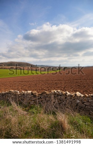 Arable farmland near Taddington, Cotswolds, Gloucestershire, England #1381491998