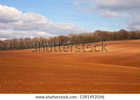 Arable farmland near Taddington, Cotswolds, Gloucestershire, England #1381492046