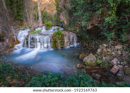Aragosa waterfall in the Rio Dulce natural park Foto stock ©