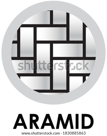 Aramid fabric fiber icon. Synthetic textile fibre symbol Stok fotoğraf ©