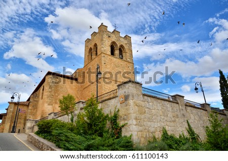 Shutterstock Aranda de Duero is the capital of the Ribera del Duero wine region. Church of Saint Jonh, San Juan