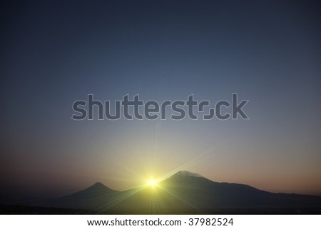 Ararat at sunset