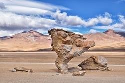 Arbol de piedra (Rock tree), south Altiplano, Bolivia