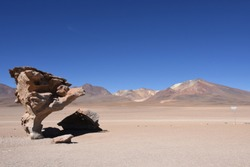 Arbol de Piedra - Stone tree near Uyuni - Bolivia