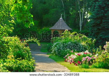 arbour in private garden