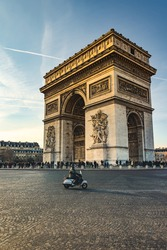 Arc de Triomphe is one of the most famous monuments in Paris, standing at the western end of the Champs-Élysées at the center of Place Charles de Gaulle.