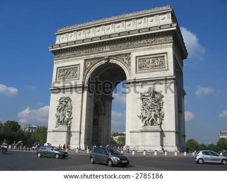 Arc de triomphe monument, Paris