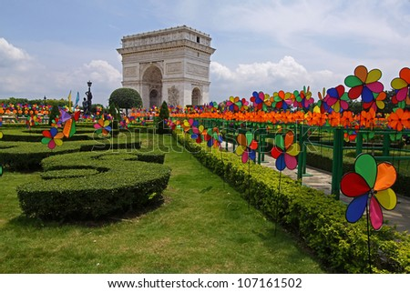 Arc de triomphe - Window of the world park in Shenzhen, China