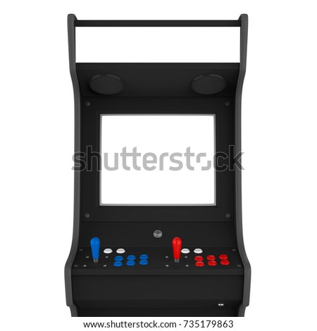 Arcade Game Machine Isolated. 3D rendering