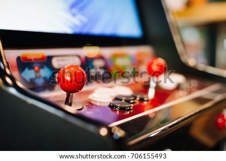 Arcade machine. Game Arcade machine.