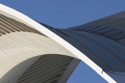 Arch.  Detail of modern european architecture.