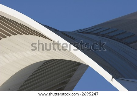 Arch.  Detail of modern european architecture.