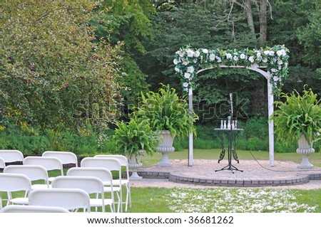 arch gate for the wedding ceremony