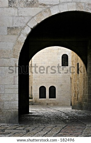 Arch in Old Jerusalem