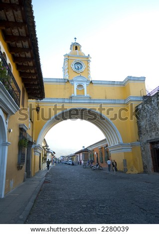 arch of arco de  santa catalina antigua guatemala