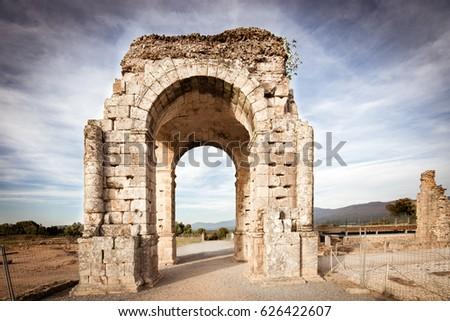 Arch of Caparra, Roman city of Caparra (Extremadura, Spain)  #626422607
