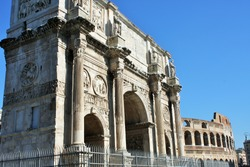 Arch of Constantine, (AD 312), one of three surviving ancient Roman triumphal arches in Rome.