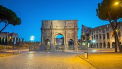 Arch of Constantine near colosseum, Rome, Italy