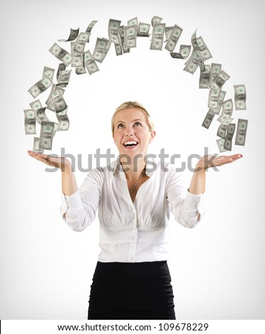 Arch of money - stock photo