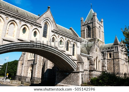 arch of the christ church...