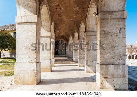 Arch of the Iglesia Real de San Antonio. Royal Church of San Antonio, Aranjuez, Spain