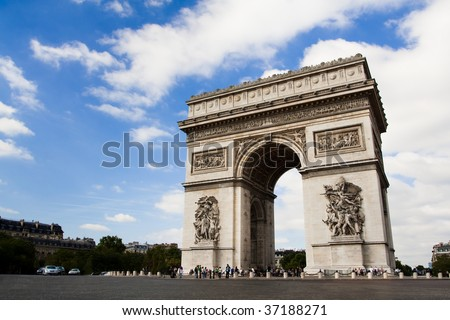 Arch of Triumph on the Charles De Gaulle square. Paris, France