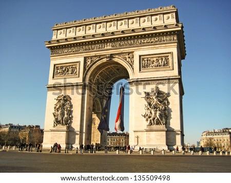 Arch of Triumph, Paris, France ストックフォト ©