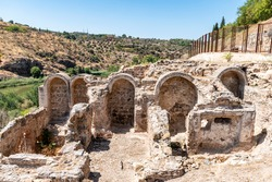 Archaeological excavations. Tenerías Baths (Baños de Tenerías), a public bath in Toledo, Castile-La Mancha.