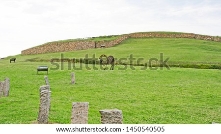 Archaeological Park La Campa Torres, Gijón, Principality of Asturias, Spain, Europe Foto stock ©
