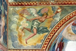 Archangel Gabriel, Fresco paintings in the old church