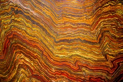 Archean Banded Iron Formation Rock